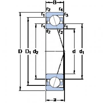 Bantalan 71819 ACD/HCP4 SKF