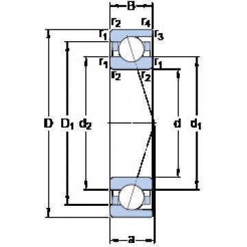 Bantalan 71832 ACD/HCP4 SKF